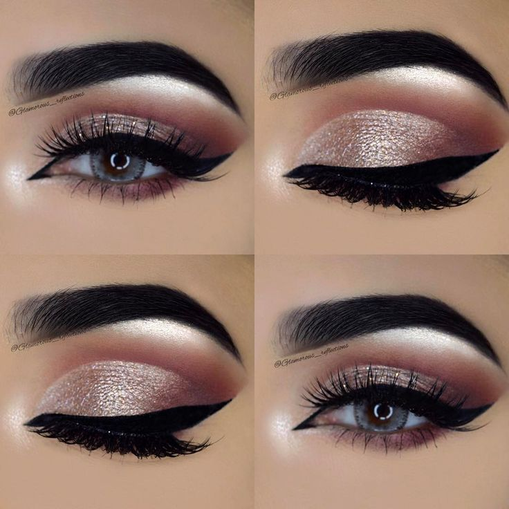 Winter Makeup, Fall Eye Makeup, Silver Eye Makeup, Cute Eye Makeup, Eye