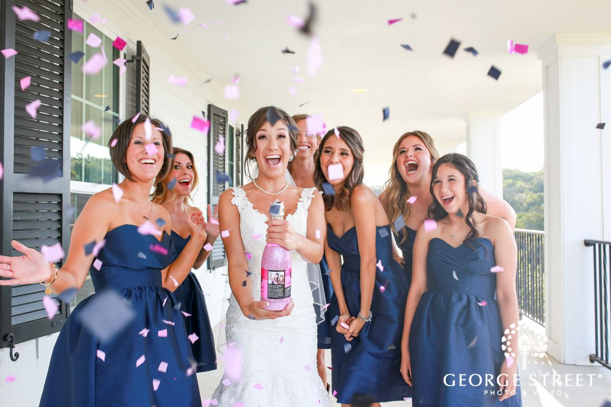 Let's get this party started! These #bridesmaids really know how to pop the bubbly! Check out all of the details on our blog today from this amazing southern San Antonio wedding.