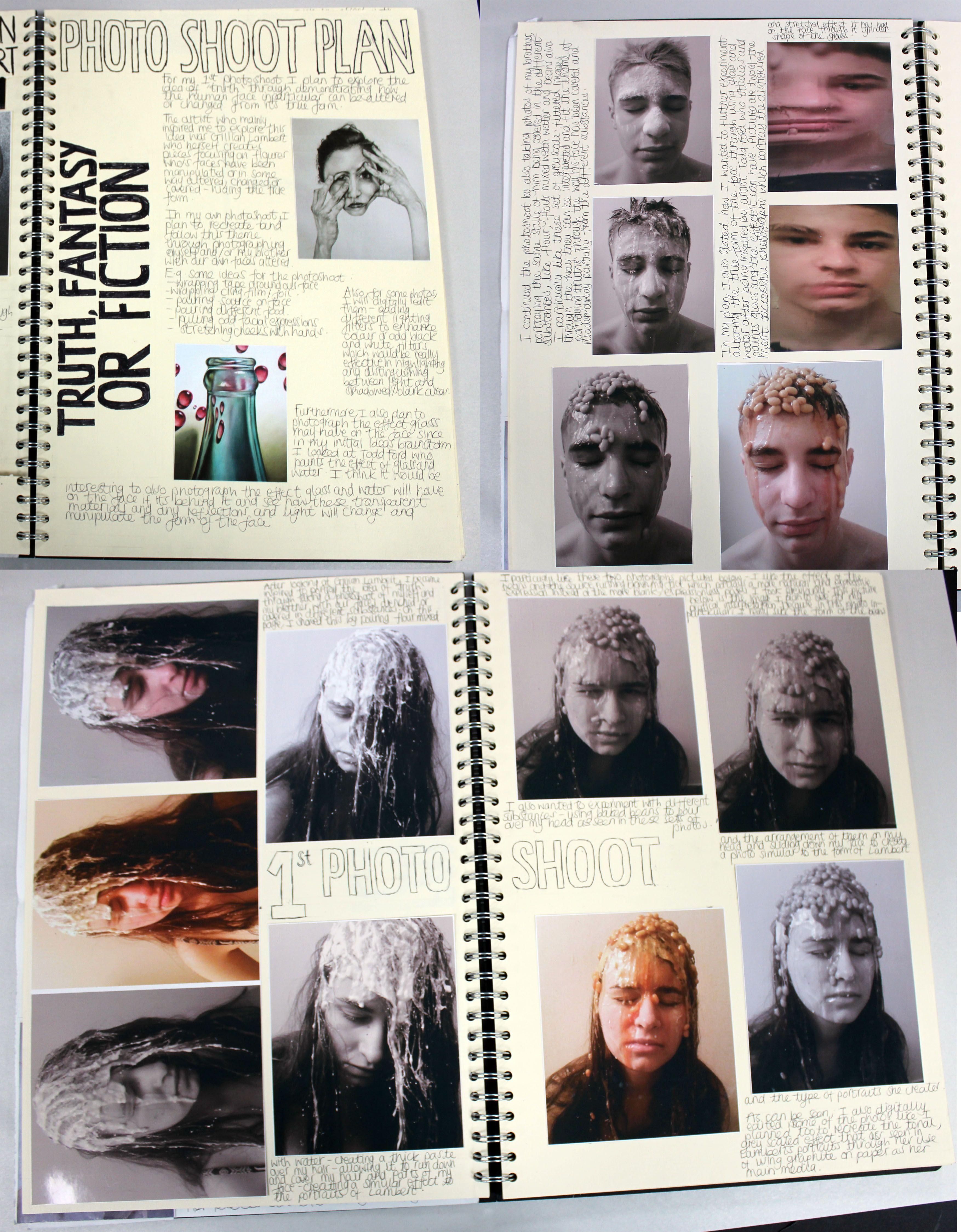 Al A2 Fine Art A3 Cream Sketchbook Photoshoot Plan And