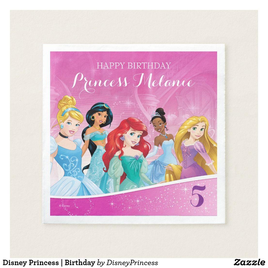 Disney Princess Birthday Napkins (With