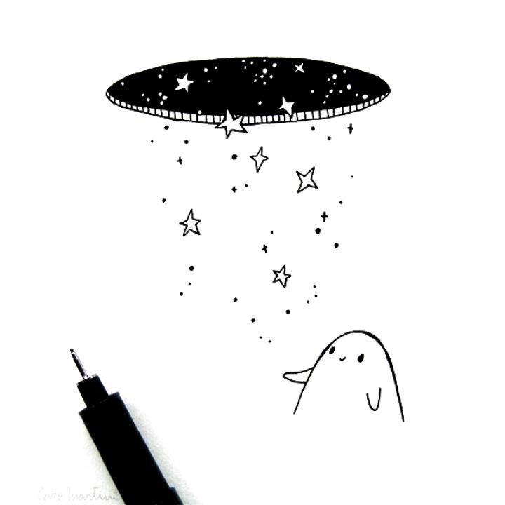 stars and magic #inktober #illustration