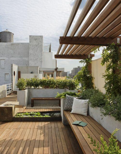 east village roof garden modern landscape garden 2. Black Bedroom Furniture Sets. Home Design Ideas