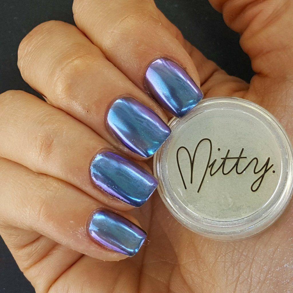 Chrome Powder-Blue Bullet | Nails & etc. | Pinterest | Productos y Azul