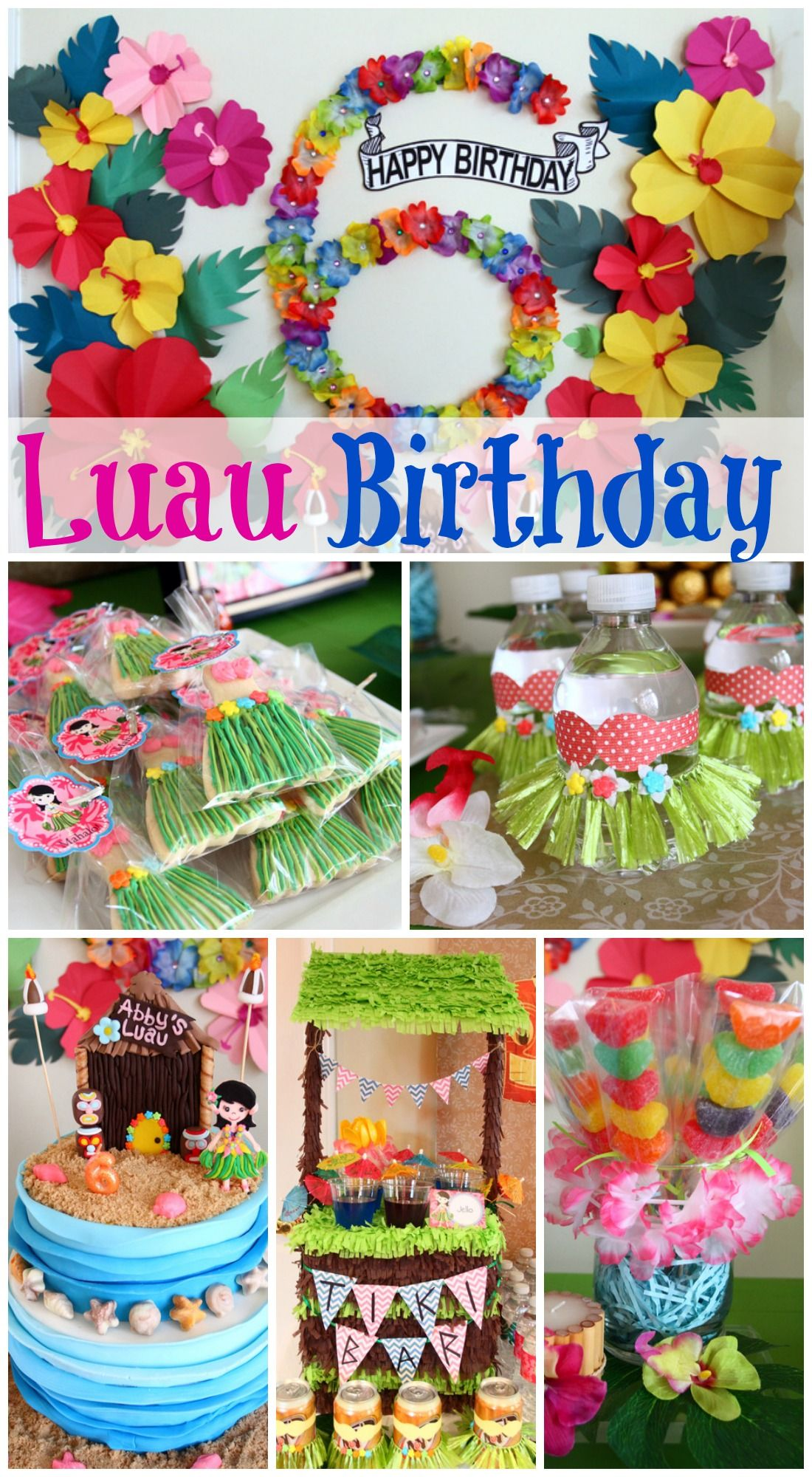 Gorgeous luau girl birthday party, filled with amazing ideas