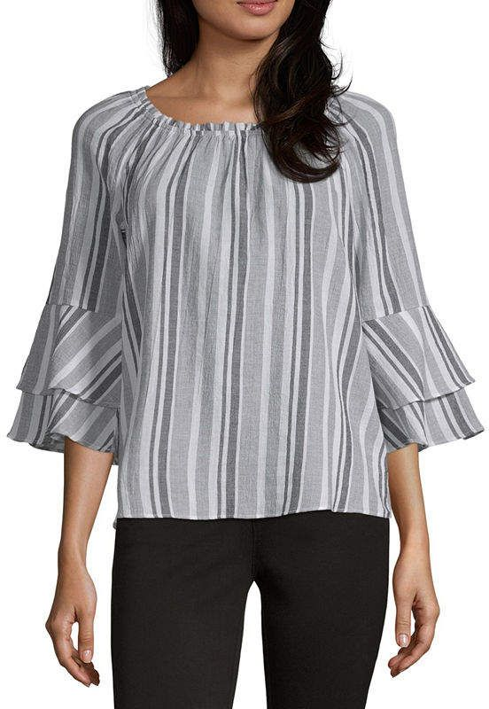 631e046d111f0e Alyx Womens Round Neck 3/4 Sleeve Blouse in 2019 | Products | Blouse ...