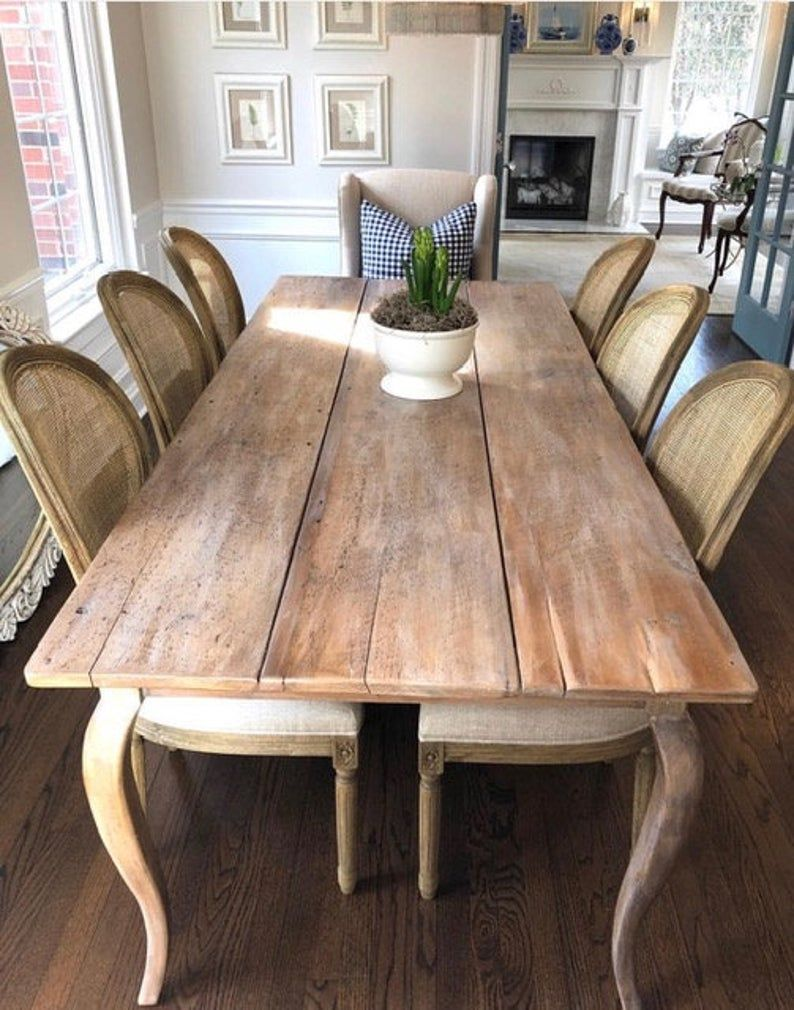 The French Provincial Farmhouse Table Handmade With Reclaimed Wood By Arcadian Cottage French Farmhouse Dining Table French Farmhouse Table Farmhouse Dining Table French farmhouse kitchen table