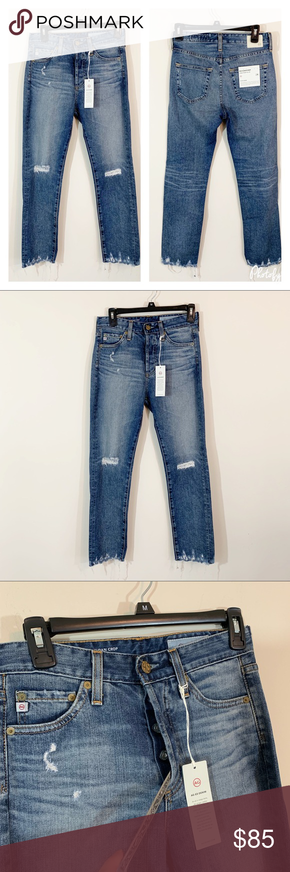 AG Adriano Goldschmied Womens Sloan Vintage Straight Leg Crop Jean