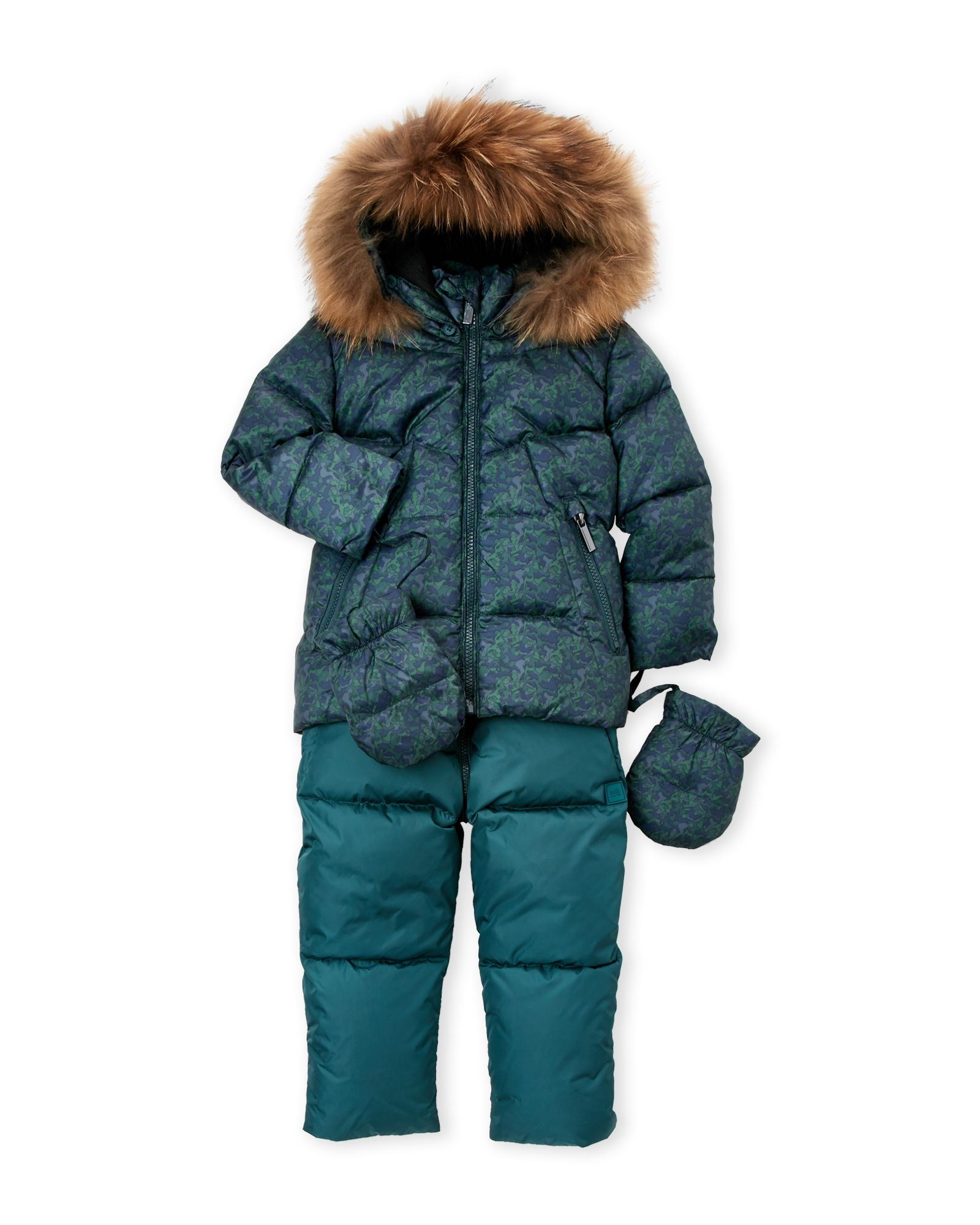 35320079002e Add (Infant Boys) 2fer Real Fur-Trim Quilted Down Jacket   Overalls ...