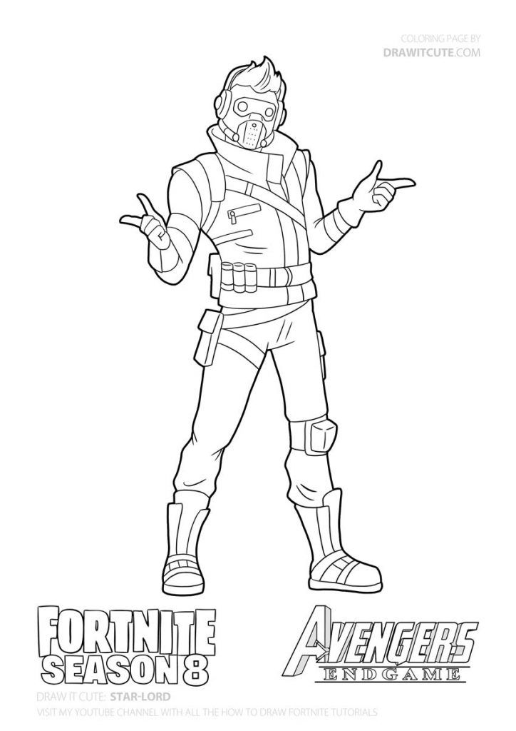 How To Draw Star Lord Step By Step Guide Coloring Page Fortnite Draw It Cute Free Coloring Pages Coloring Pages Star Lord