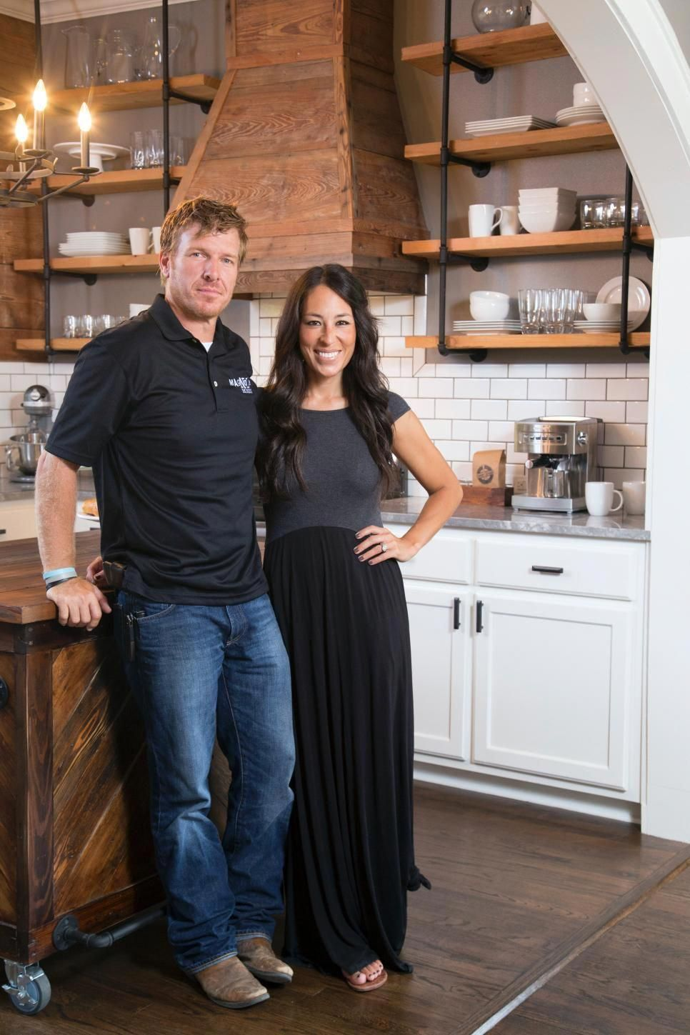 If you love Chip and Joanna Gaines as much as we do, seeing glimpses of their stunning farmhouse on HGTV's Fixer Upper, has most likely left you wanting more. Their 1,700-square-foot Victorian home sits on 40 beautiful acres in Crawford, Texas, a suburb of Waco. When the couple isn't busy transforming fixer uppers for clients or working on exciting new projects for their business, this is the haven they call their own. #farmhousekitchen #chipandjoannagainesfarmhouse