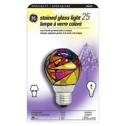 General Electric 25w Incandescent Party Light Bulb Stained Glass Light Light Bulb Decorative Light Bulbs