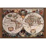 17th Century World Map Antique Art Poster Print