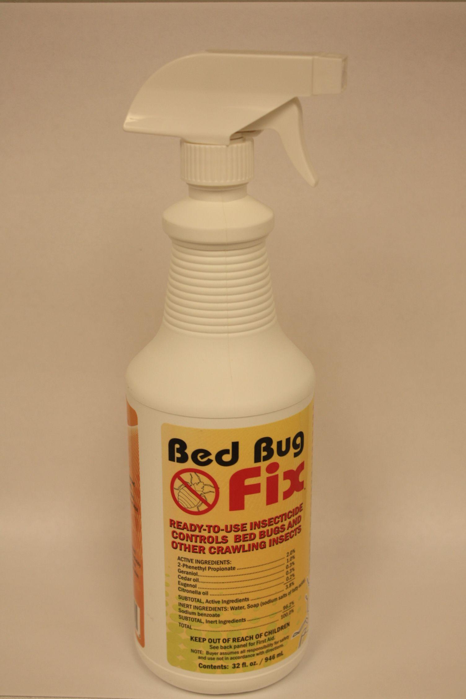 Bed Bug Fix spray bottle Bed bugs, Bugs, Spray bottle