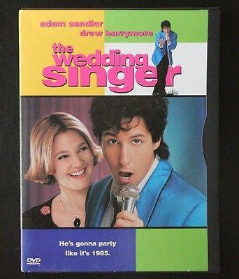The Wedding Singer DVD 1998 Adam Sandler Drew Barrymore Comedy Movie Film