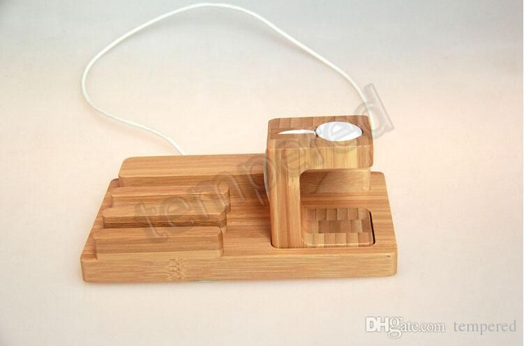 Mobili Bamboo ~ Multi wooden bamboo smart watch stand mobile holder charger dock