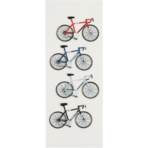 Road Bike Cycling Biking Bicycle Planner Calendar Scrapbooking Crafting Stickers