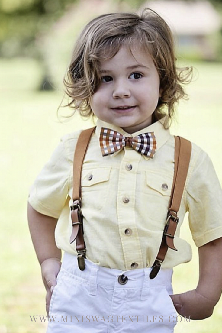 ca7dd7e0fa2a Boys Thanksgiving outfit, boys bow tie and suspenders, brown suspenders,  baby suspenders,
