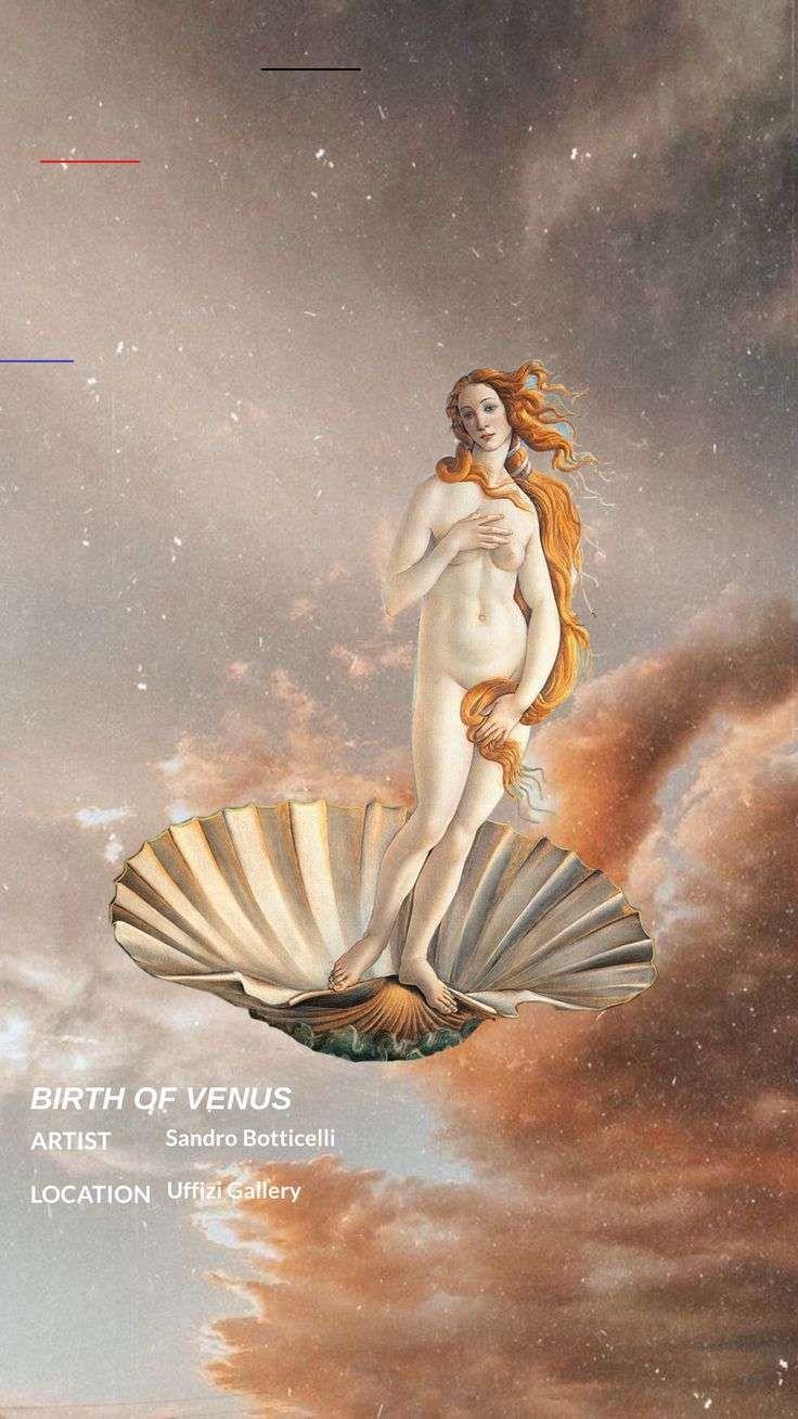 birth of Venus wallpaper @biannallopez #wallpaper #aesthetic #traditionalart #renaissance #tumblr #vangogh #arthoe #arthoeaesthetic #botticelli #michelangelo #artsy #art #painting #aestheticwallpaper #iphonewallpaper #phonewallpaper<br>