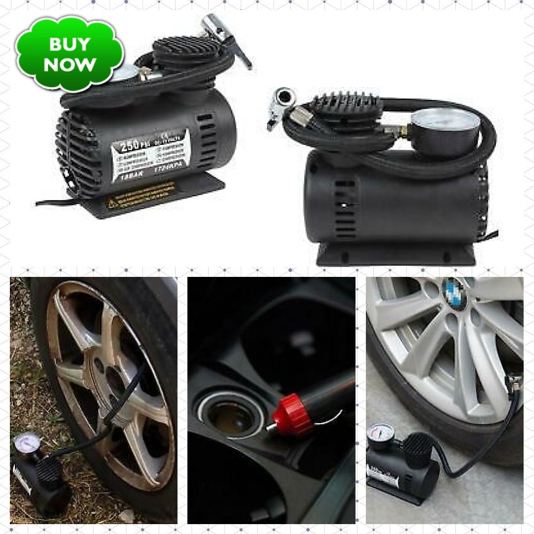 Details about 12V Electric Pump Air Compressor Tire