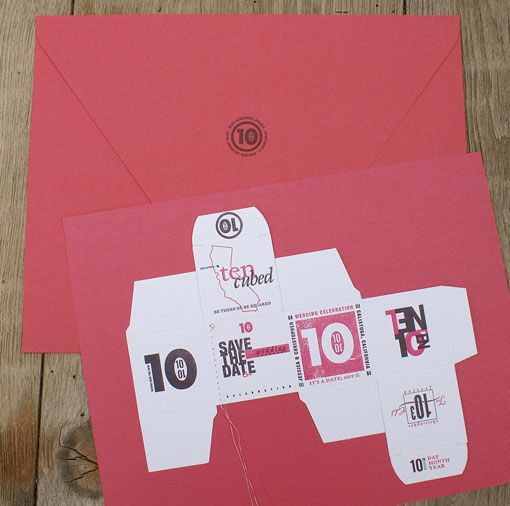 fold your own save the date cube weddings inspiration