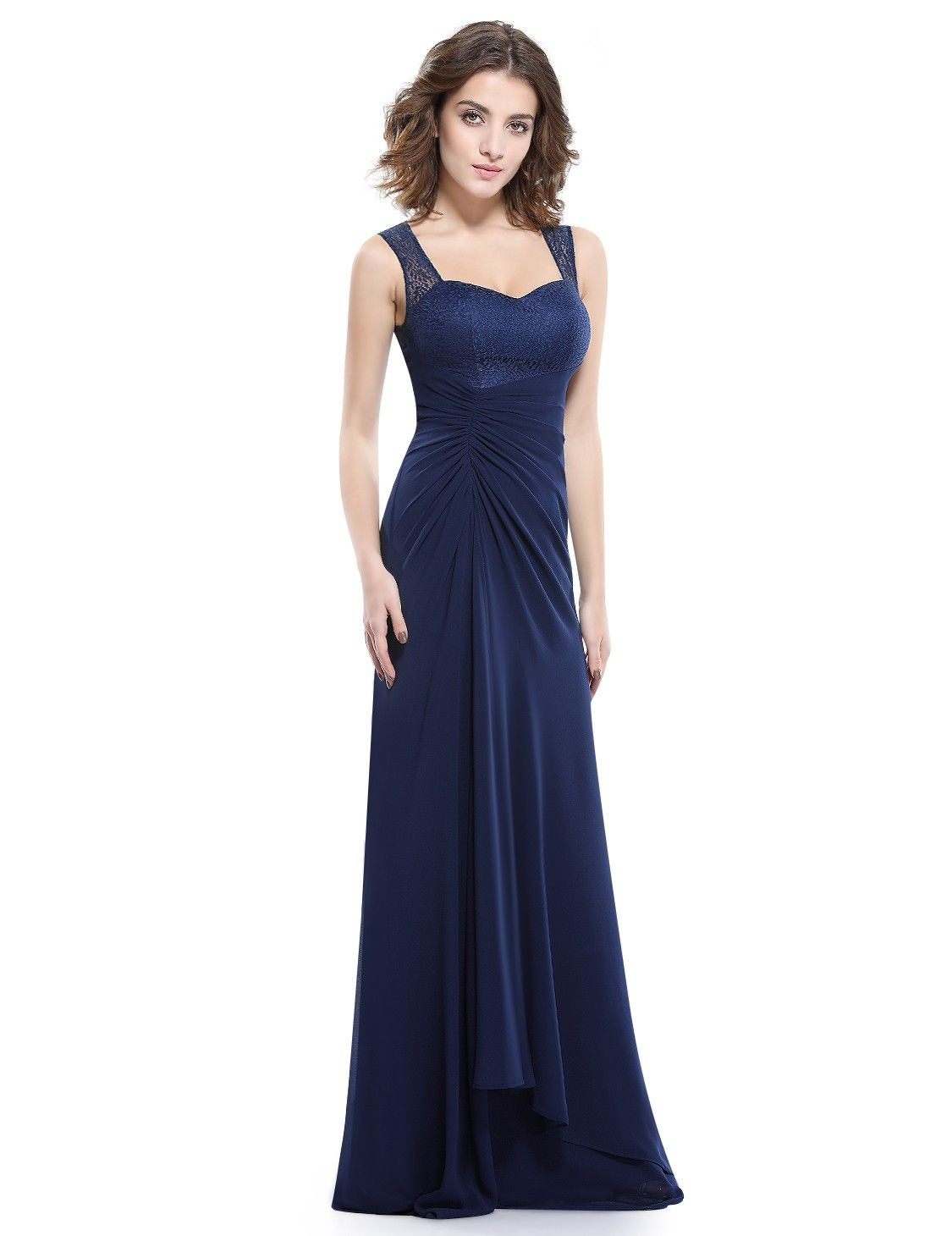 Party Kleid Abendkleid A-Linie in Dunkelblau Elegant | Damenmode ...