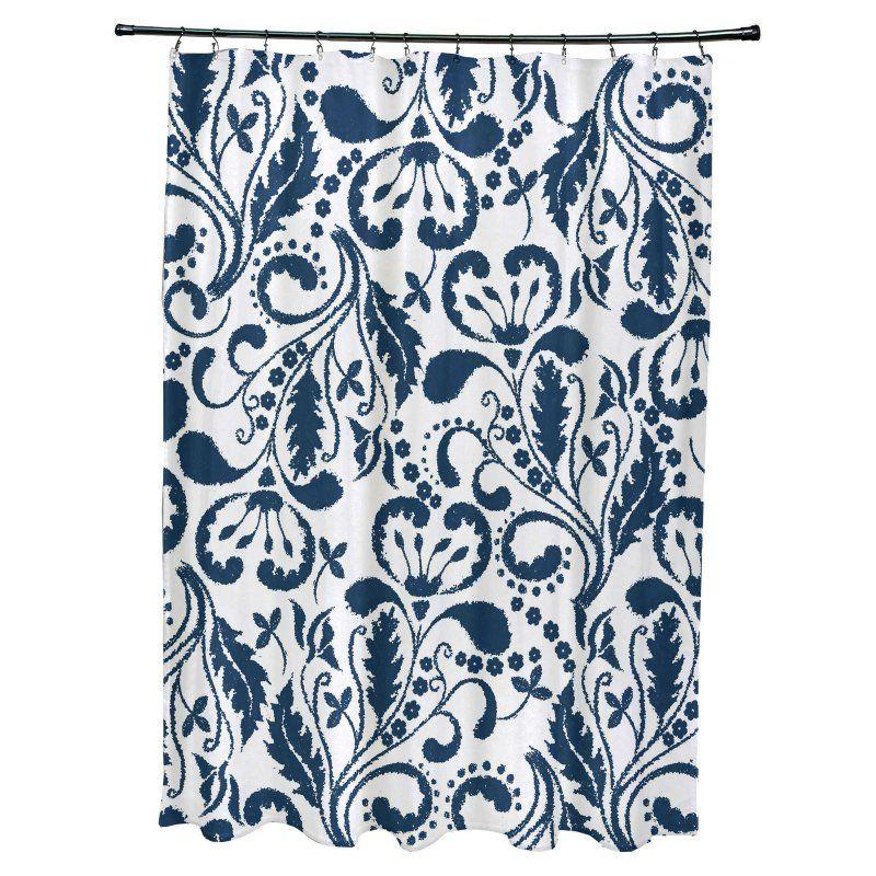 E by Design Aurora Polyester Shower Curtain Blue - SCF833BL44