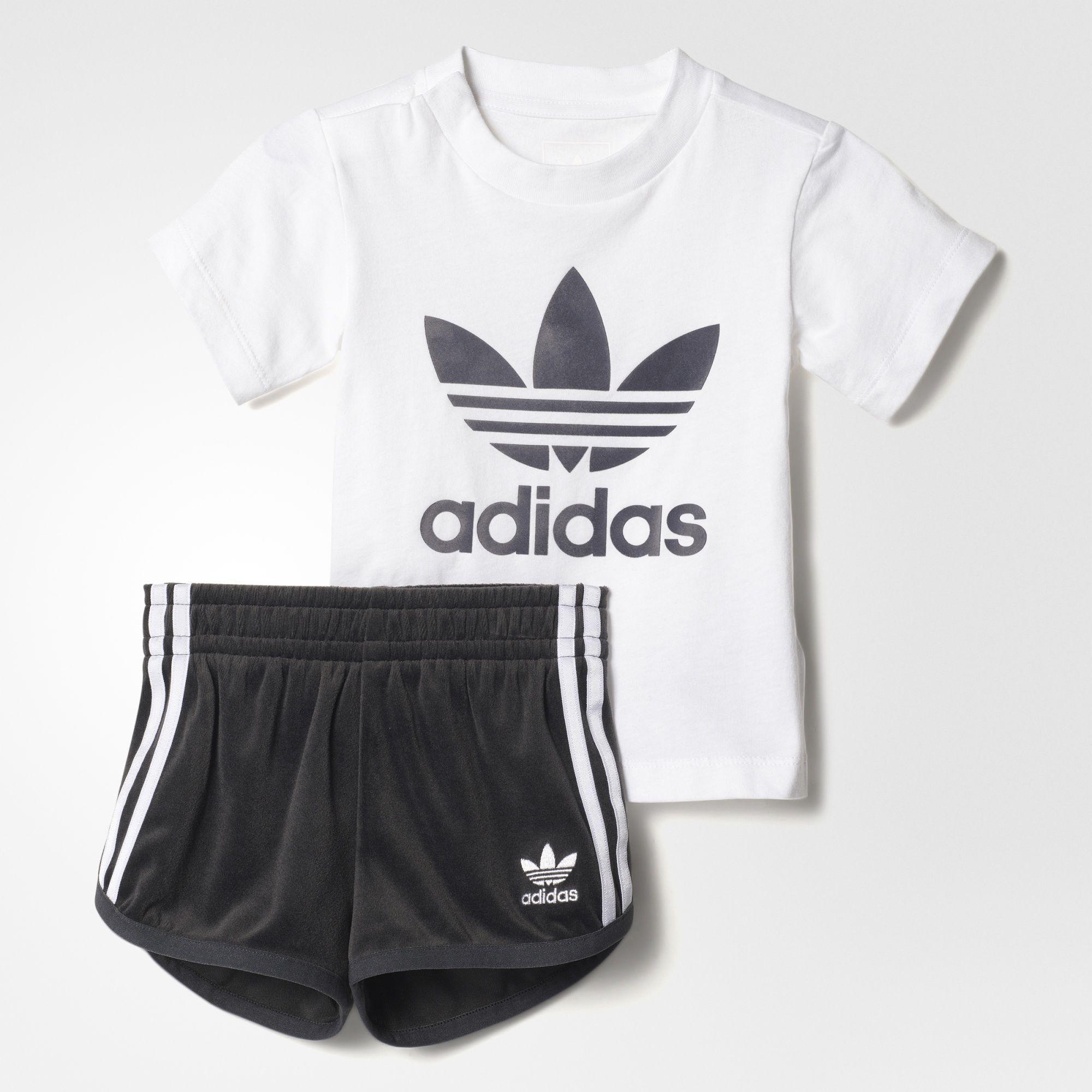 adidas - Velour Shorts Set