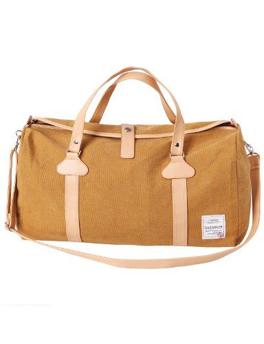 42f2c7ac56 H2H Mens Canvas Travel Bag Mixed Leather Fashion Duffle Bag YELLOW (JXSK31)  H2H http