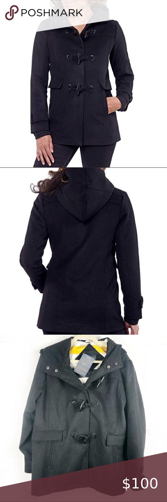 New Pendleton Toggle Button Wool Hooded Coat New Pendleton Women S Toggle Button Wool Blend Hooded Coat Black Sz Xxl Poc Hooded Wool Coat Hooded Coat Pendleton [ 1740 x 580 Pixel ]