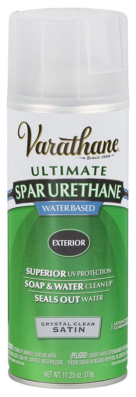 Rust Oleum Varathane 250281 Outdoor Spar Urethane Crystal Clear Water Based Spray Satin Finish Spray Paints Amazon Spray Paints Dish Soap Bottle Rustoleum
