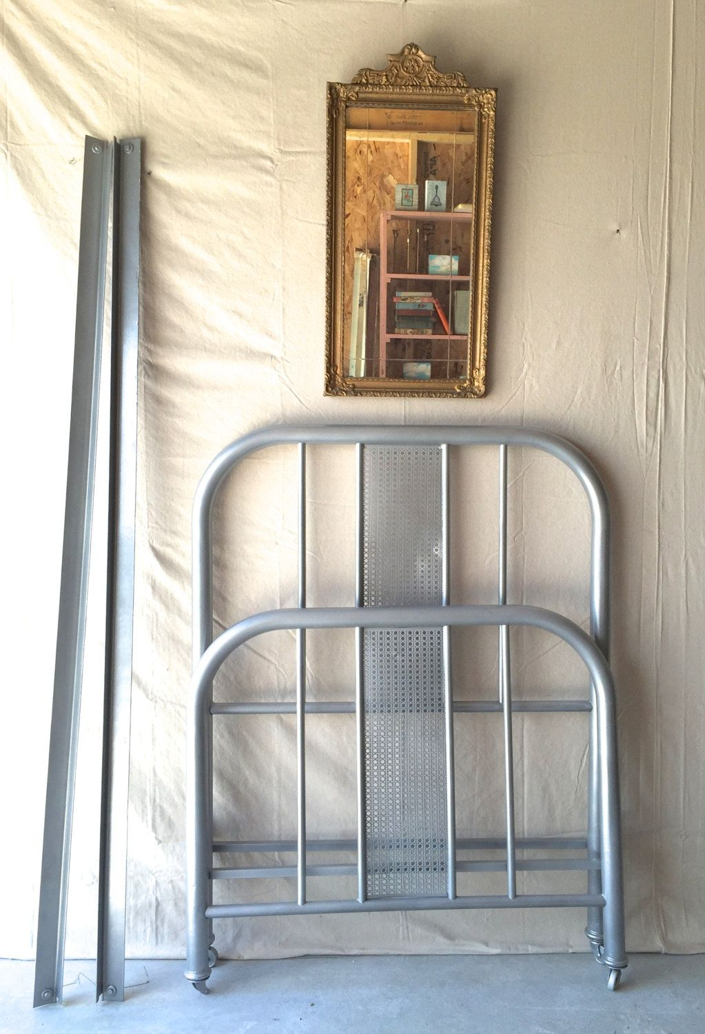 vintage metal twin bed frame by silosprings on etsy - Etsy Frames