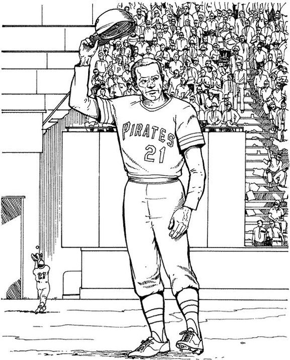 Pittsburgh Pirates Player Baseball Coloring Page | Purple Kitty ...