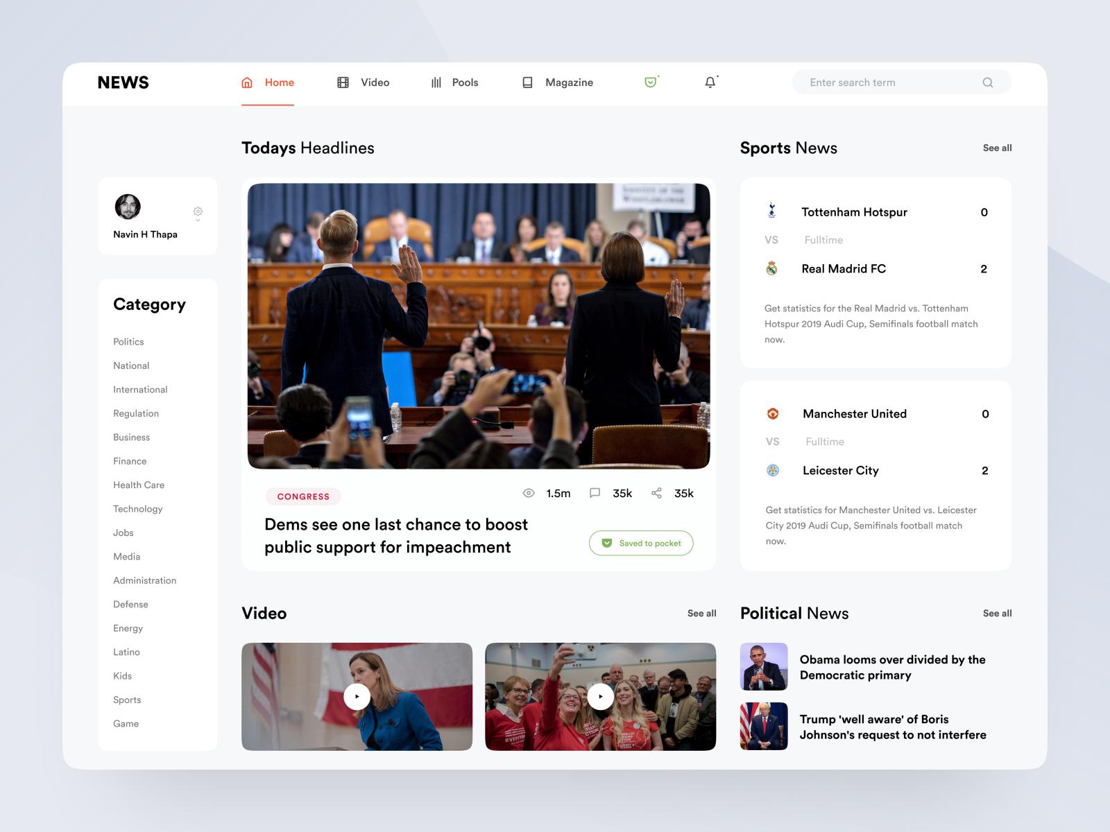 News Portal Part 1 In 2020 News Web Design News Website Design Portal Design