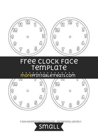 Free Clock Face Template  Small  Shapes And Templates Printables