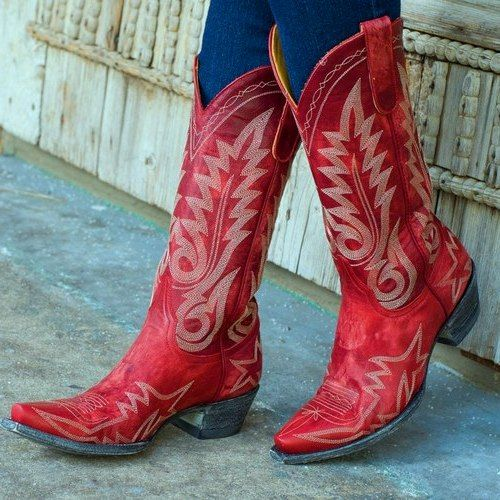 Pics For   Red Cowboy Boots For Women  94b27f8d4c9