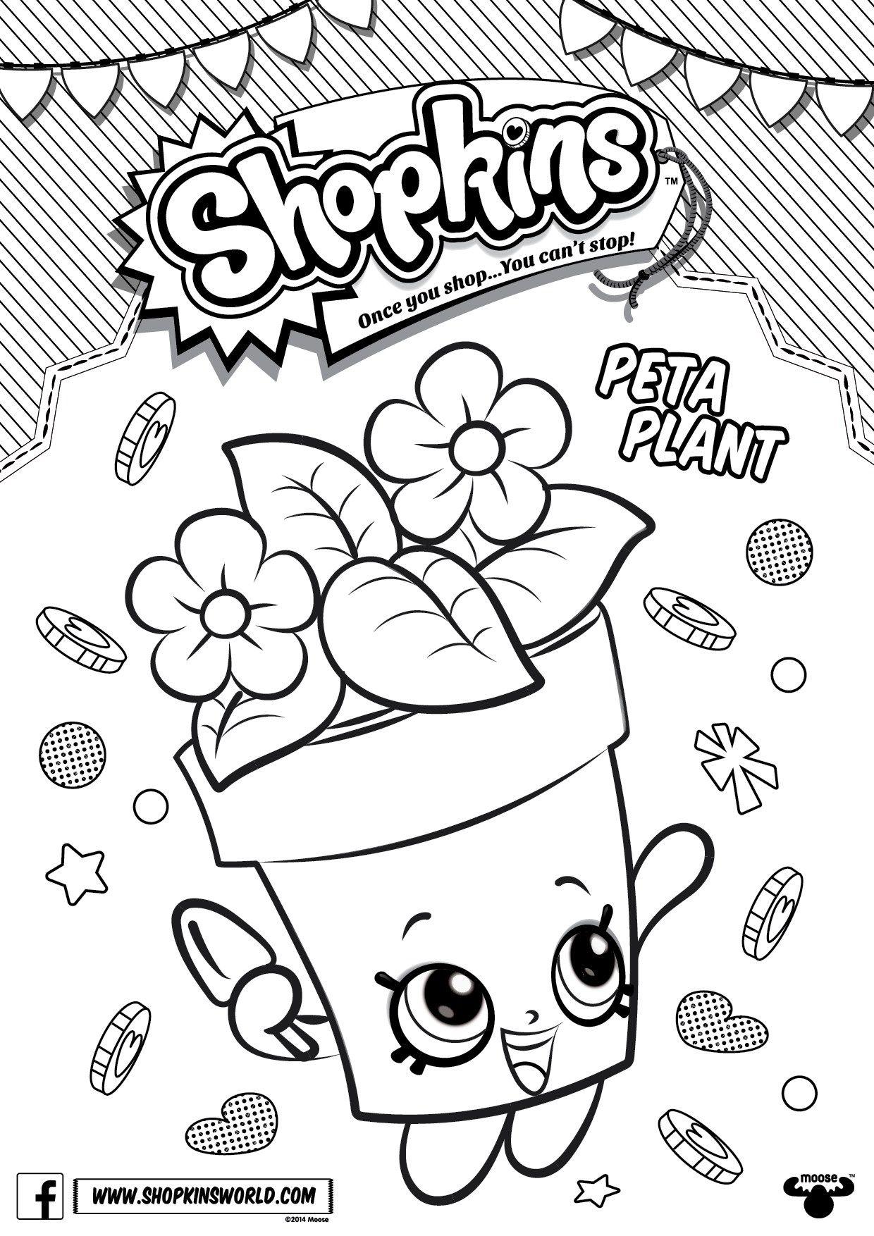 Shopkins Coloring Pages Season 4 Peta Plant Printables