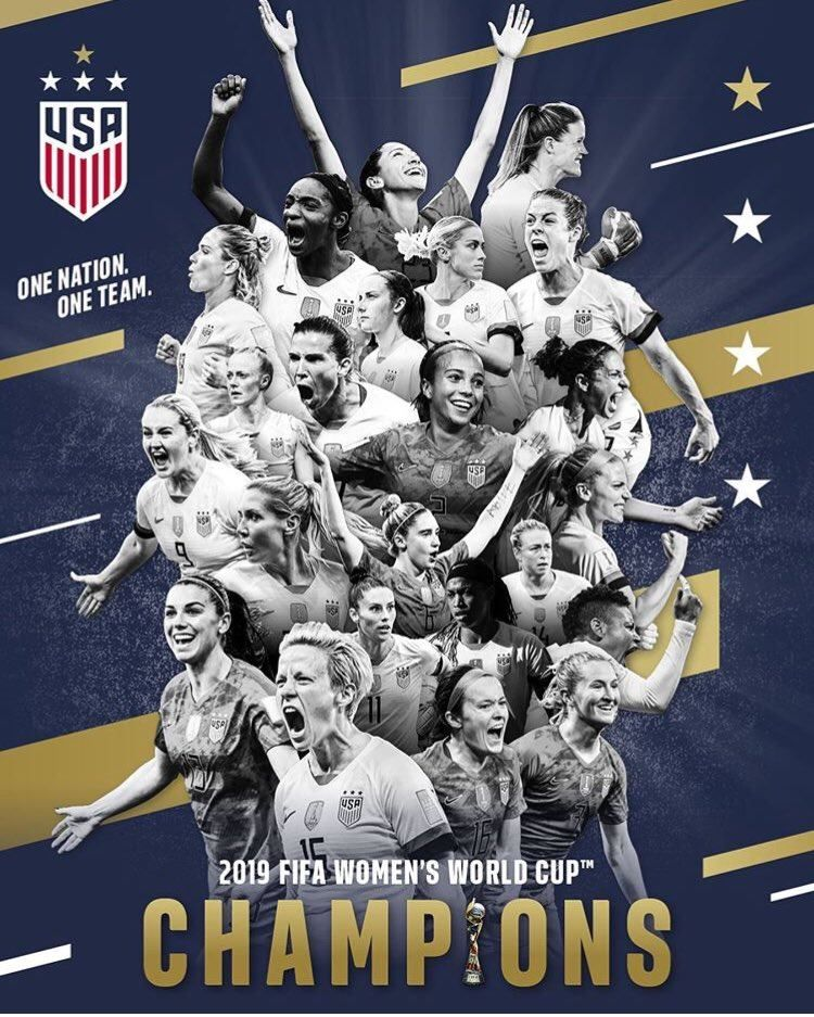 These Are Some Badass Women Congratulations Onenationoneteam Uswnt Fifawwc Equalpay Teamusa Meganrapi With Images Uswnt World Cup Champions Fifa Women S World Cup