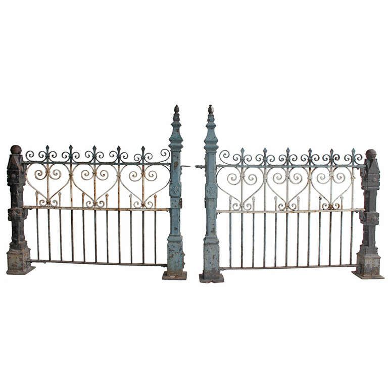 Custom Made Antique Cast Iron Fence | Fences, Iron and Modern door