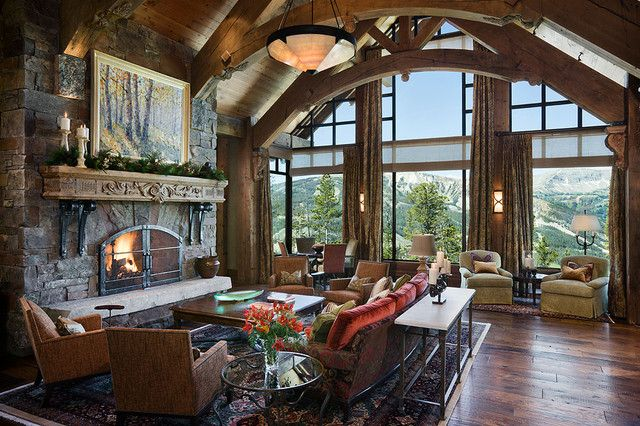 game table by window (or could do a piano, a pair of chairs, aisle to next lving area off to left, nice seating for 7 at fireplace, big walkway behind  Lynette Zambon, Carol Merica