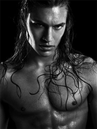 Sexy men with long hair