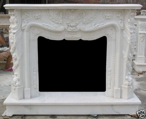 French Design Marble Fireplace Mantel and Surround | eBay