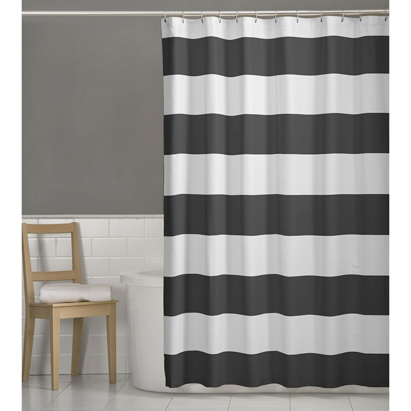 Maytex Porter Shower Curtain Fabric Shower Curtains Striped