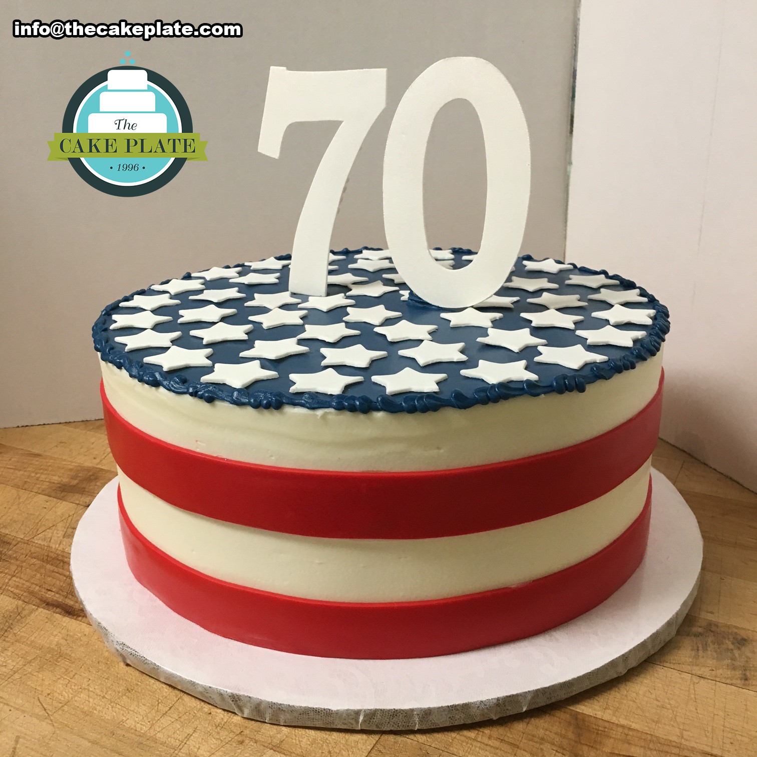 American Flag 70th Birthday Cake