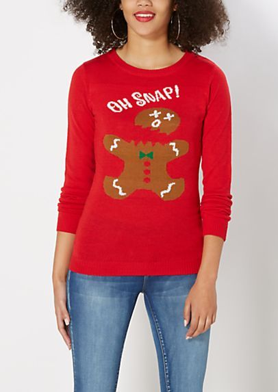 oh snap gingerbread man sweater rue21