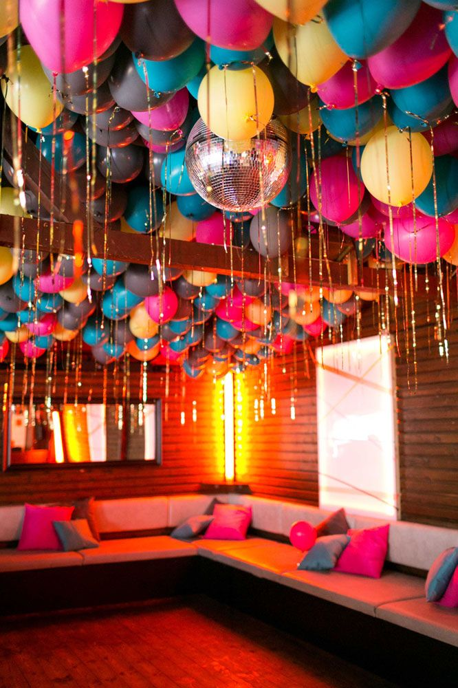 Could be fun in the bar room not sure if balloons would hold up  partydisco also best outdoor wedding images on pinterest rh