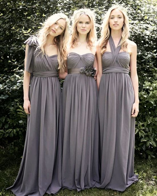 1db8057047c Custom Bridesmaid Convertible Chiffon Multi Way Wrap Twist Dress Size AU6 -  22