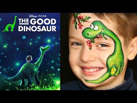 аквагрим динозавр фото