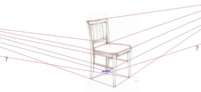 Perspective Drawing Chair