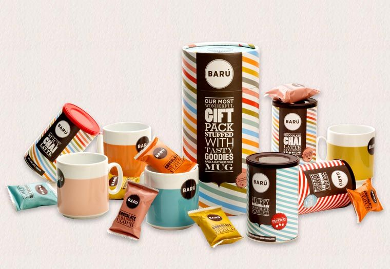 Barú - Marshmallow and Chocolate Drink Powder Gift Tubes | $26.95 | holiday gifts for under $45