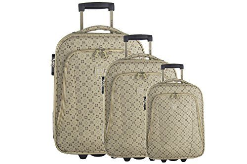 Luggage Sets Collections | 3piece Semirigid Luggage Set LAURA BIAGIOTTI  Beige Cabin Baggage VS56 **